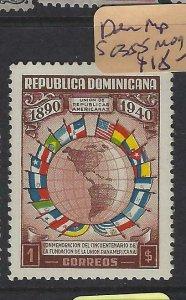 DOMINICAN REPUBLIC  (P1305B)  FLAGS  1$   SC 355    MOG