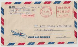 Vietnam Meter Stamp Covers: 4 diff all to US Par Avion slug NICE LOT!