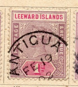 Leeward Islands 1891 Early Issue Fine Used 1d. NW-11895