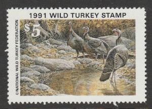NWTF16 1991 National Wild Turkey Stamp EBAY LOW (ALL 1976-2018 in Stock) OFFER?