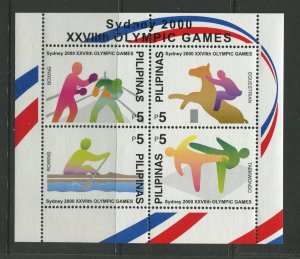 STAMP STATION PERTH Philippines #2685 Sydney Olympics Souvenir Sheet MNH CV$5.00