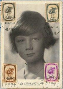57004 - BELGIUM - POSTAL HISTORY: MAXIMUM CARD 1939 - ROYALTY