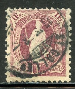 Switzerland # 87, Used. CV $ 7.00