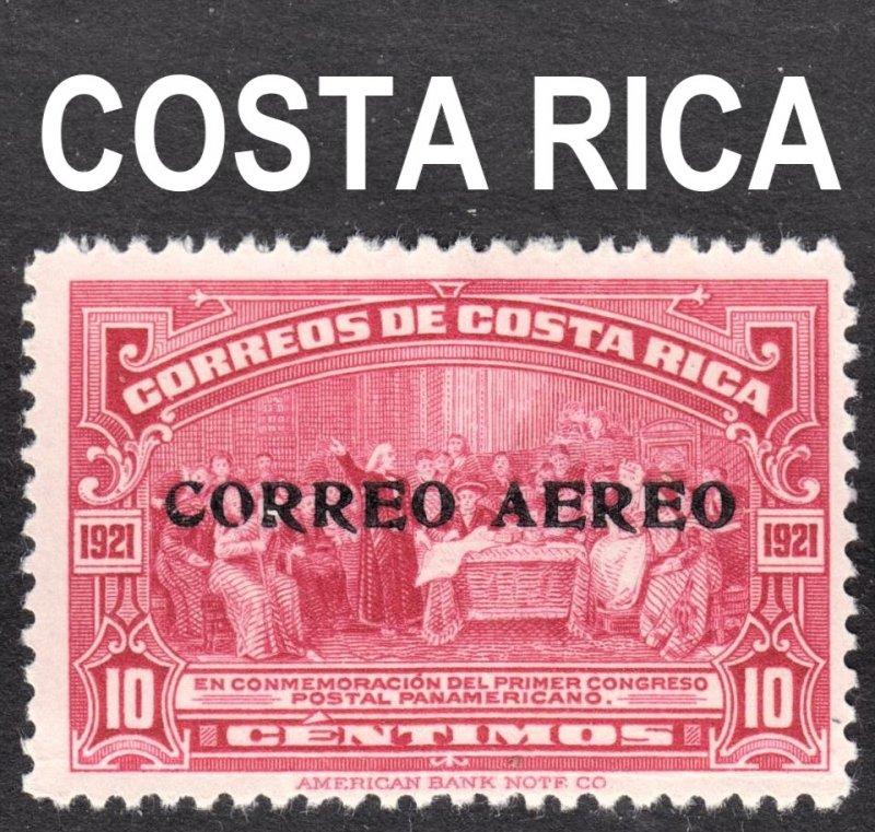 Costa Rica Scott C2 F to VF mint OG HHR.