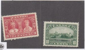 CANADA (MK2841) # 213,215 VF-MH 3,10cts  KGV-QUEEN MARY / WINDSOR CASTLE CV $15