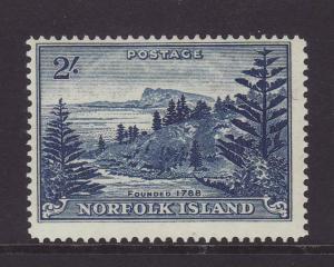1959 Norfolk Is 2/- Deep Blue Mounted Mint SG12A