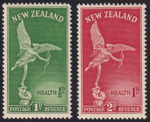 New Zealand SC#B30-B31 Statue of Eros (1947) MNH