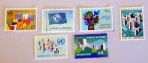 UN, Vienna - 1-6, MNH, Set. Aerial View, etc. SCV - $2.00