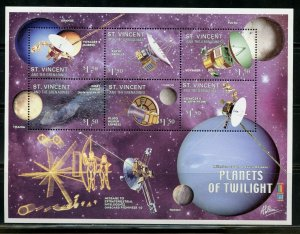 ST. VINCENT GRENADINES  PLANETS OF TWILIGHT  SHEET MINT NH