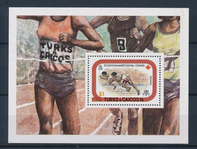[35449] Turks & Caicos 1978 Commonwealth Games Athletics Souvenir Sheet MNH