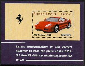 Sierra Leone MNH S/S 2429 Ferrari Sports Car