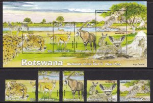Botswana, Fauna, Animals, Birds MNH / 2019