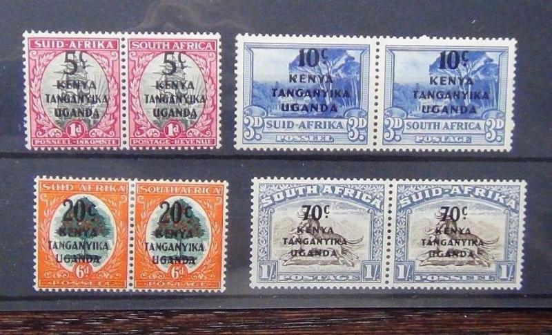 KUT 1941 - 42 set in Pairs MM SG 151 - 154