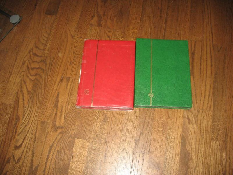 STAMP STOCKBOOKS 2 books 15 pages 2 sided in fair condition 113 1117