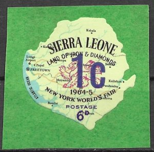 Sierra Leone 1965 Surcharged issue (Scott 260) Unlisted But Mentioned Scott MNH
