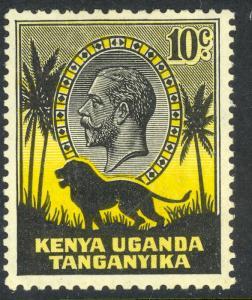 KENYA UGANDA TANGANYIKA 1935 KGV 10c Lion Pictorial Sc 48 MH