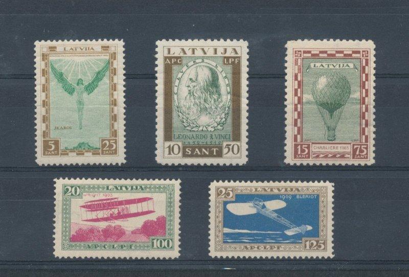 1932 Latvia - Mail Aerea - Pro Fund IN Aid Dell'Aviation - Leonardo