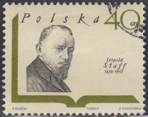 Poland 1711 USED 1969 Leopold Staff 40Gr