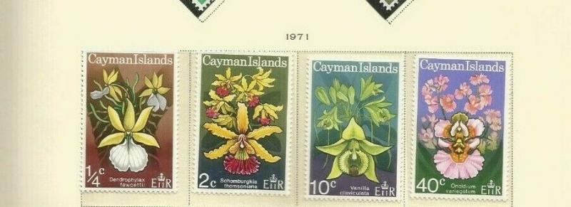 CAYMAN ISLANDS 1971 FLOWERS SCOTT 287-90 MNH