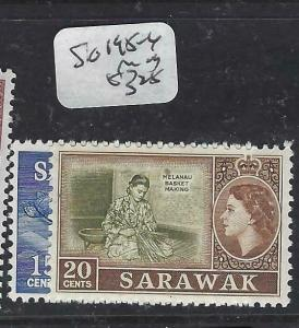 SARAWAK  (P2704B)  QEII   SG 195-6   MOG