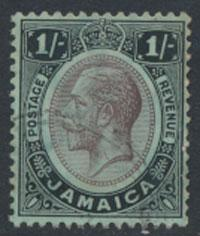 Jamaica SG 65b SC# 68a Used / FU  on blue green / olive back see details