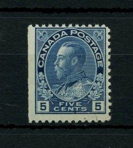 #111 Admiral 5c blue F MNH Post office fresh Cat $210 Canada mint