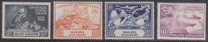 Singapore - 1949 UPU Set mint Sc. #23-26