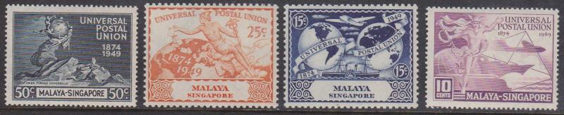Singapore - 1949 UPU Set mint Sc. #23-26