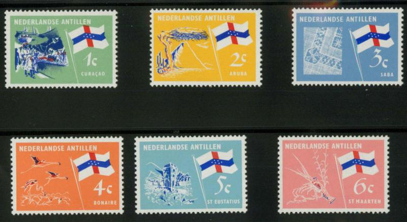 Netherlands Antilles 295-300 Mint VF H