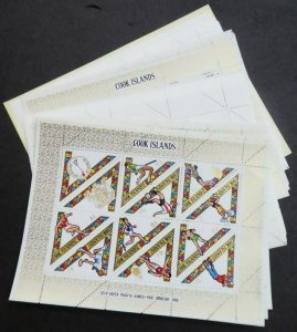 EDW1949SELL : COOK ISLANDS 1969 Sc #254-58(3 Cplt sets) Also #258c (7x) Cat $172