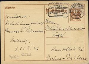 AUTRICHE / AUSTRIA 1925 MiP276b CARTE POST. 10Gr POSTAL CARD USED 1932 to BERLIN
