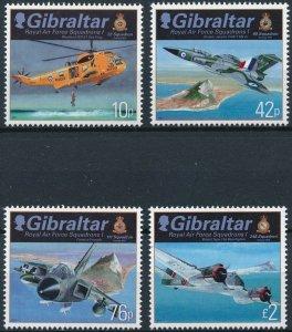Gibraltar MNH 1693-6 Royal Air Force Squadron Aircraft 2012