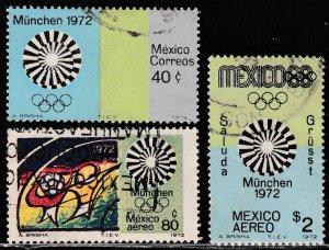 MEXICO 1047, C410-C411 Munich Olympic Games USED. F-VF. (255)