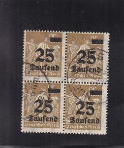 Germany: Sc #247, Block/4, 1923 Nauenberg Cancel, Used (S18321)