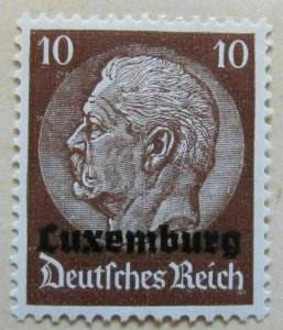 A6P41F46 Germany Occupation of Luxembourg 1940 10pf mh*