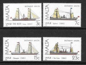 MALTA SG772/5 1985 MALTESE SHIPS MNH