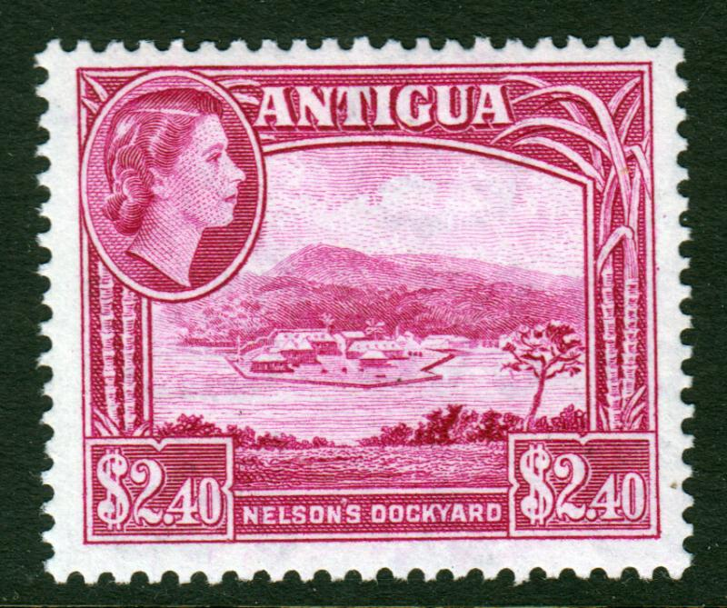 Antigua QEII 1953 $2.40 Bright Reddish Purple SG133 Mint Lightly Hinged