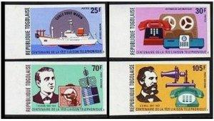 Togo 928-29,C276-77,C277a imperf.MNH.Edison,Graham Bell