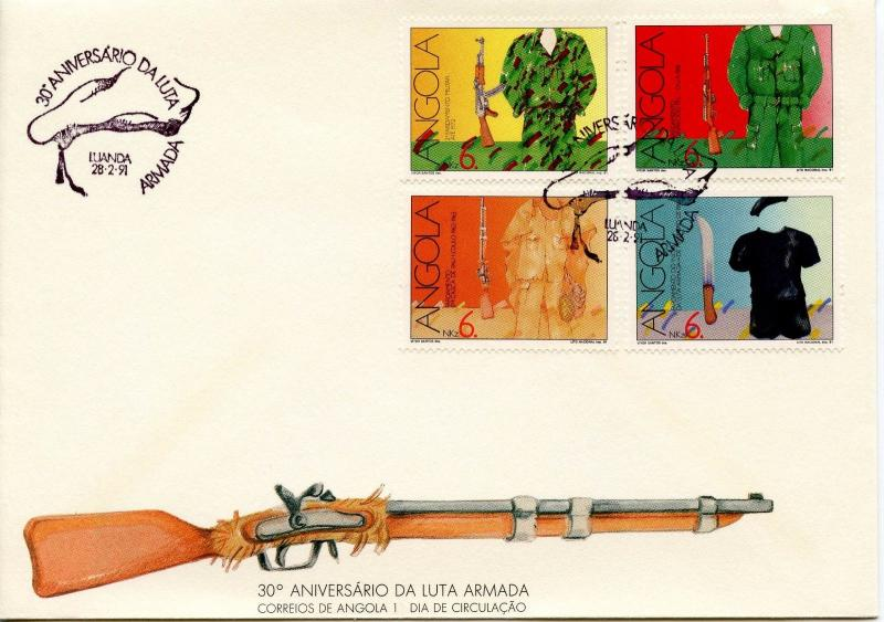 ANGOLA - 1991 The 30th Anniversary of the Armed Independence Movement    FDC1265