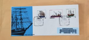 1972 SINGAPORE U/A REGISTERED FDC ON SHIPPING SERIES