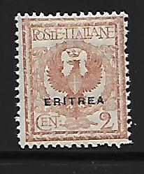 ERITREA 20 MINT HING 1903-1928 ISSUE