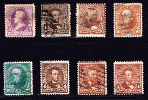 US STAMP 19TH SMALL BANK OLD USED STAMPS LOT