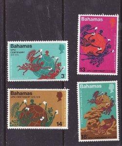 Bahamas-Sc#358-61-unused NH set-id2-UPU-1974-