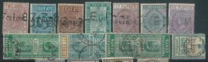 70501 - CEYLON - STAMPS: VERY NICE lot of TELEGRAPH stamps - USED !