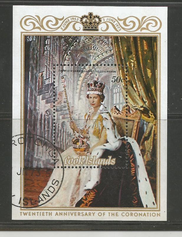 Cook Islands Used sc# 350 QEII Coronation