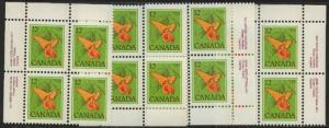 Canada - 1978 12c Jewel Weed Plate Blocks mint #712
