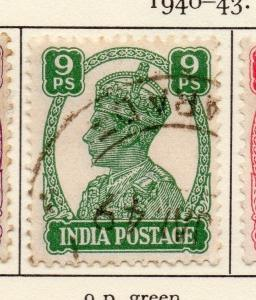 India 1940-43 Early Issue Fine Used 9p. 081339