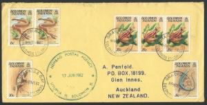 SOLOMON IS 1982 cover NEMBAO POSTAL AGENCY cds. ...........................12744