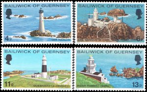 Guernsey MNH 131-4 Lighthouses 1976