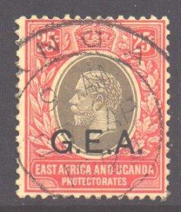 Tanganyika Scott N112 - SG52, 1917 GEA Overprint 25c used
